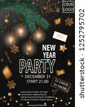 2019 happy new year party... | Shutterstock .eps vector #1252795702