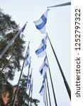flags of finland flies from a...   Shutterstock . vector #1252797322