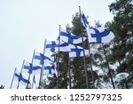 flags of finland flies from a...   Shutterstock . vector #1252797325
