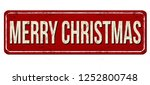 merry christmas vintage rusty... | Shutterstock .eps vector #1252800748