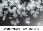 realistic snowflakes background.... | Shutterstock .eps vector #1252808872
