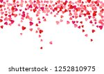 red flying hearts bright love... | Shutterstock .eps vector #1252810975
