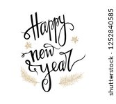 happy new year card isolated on ... | Shutterstock .eps vector #1252840585