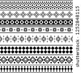 stripe ethnic seamless pattern. ... | Shutterstock .eps vector #1252848115