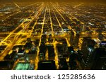 Aerial City Night View Of...