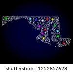 glossy polygonal mesh map of... | Shutterstock . vector #1252857628