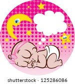 vector illustration of a cute... | Shutterstock .eps vector #125286086