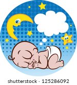 vector illustration of a cute... | Shutterstock .eps vector #125286092