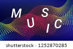 music wave design. music summer ... | Shutterstock .eps vector #1252870285