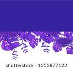 background tropical leaves... | Shutterstock .eps vector #1252877122