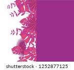 background tropical leaves... | Shutterstock .eps vector #1252877125