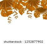 flower frame monstera ufo green ... | Shutterstock .eps vector #1252877902
