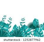 flower frame monstera ufo green ... | Shutterstock .eps vector #1252877962