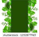flower frame monstera ufo green ... | Shutterstock .eps vector #1252877965