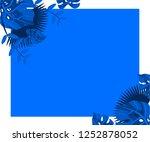 flower frame monstera ufo green ... | Shutterstock .eps vector #1252878052