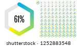 set of hexagon percentage...