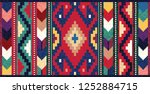 colorful oriental mosaic rug... | Shutterstock . vector #1252884715