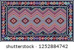 colorful oriental mosaic rug... | Shutterstock . vector #1252884742