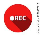 rec icon. simple circle flat...