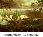 View Through Alien Plant Life...