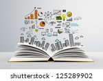 book with colorized colorized... | Shutterstock . vector #125289902
