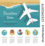 summer vacation and tourism.... | Shutterstock .eps vector #1252903375