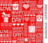 happy valentine's day.... | Shutterstock .eps vector #125292008