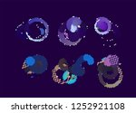 abstract vector background dot... | Shutterstock .eps vector #1252921108