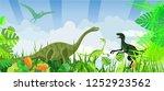 dinosaurs of jurassic time ...   Shutterstock .eps vector #1252923562