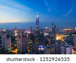 skyline of urban nanjing city... | Shutterstock . vector #1252926535