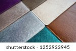 colorful leather ... | Shutterstock . vector #1252933945