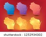 wisconsin map polygon geometry... | Shutterstock .eps vector #1252934302