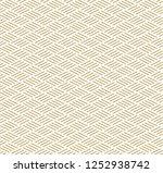gold line pattern vector.... | Shutterstock .eps vector #1252938742