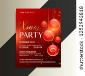 awesome christmas party poster... | Shutterstock .eps vector #1252943818