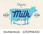 Milk  Cow. Logo With Cow...