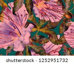 bold floral print. large... | Shutterstock . vector #1252951732