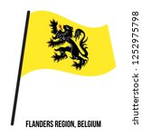 flanders region  belgium flag... | Shutterstock .eps vector #1252975798