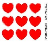 vector set of monochrome red...   Shutterstock .eps vector #1252989562
