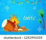 punjabi festival of lohri... | Shutterstock .eps vector #1252991035