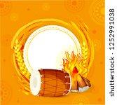 punjabi festival of lohri... | Shutterstock .eps vector #1252991038