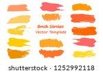 craft label brush stroke...   Shutterstock .eps vector #1252992118