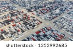 cars export terminal in export... | Shutterstock . vector #1252992685