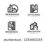 logo design for house  real... | Shutterstock .eps vector #1253002255