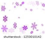 winter snowflakes border cool... | Shutterstock .eps vector #1253010142