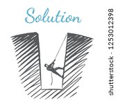 solution  business conceptual... | Shutterstock .eps vector #1253012398