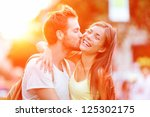 Couple Kissing Happiness Fun....
