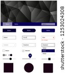 dark blue  red vector web ui...