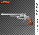 revolver on transparent... | Shutterstock .eps vector #1253037388