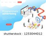 flat isometric vector landing... | Shutterstock .eps vector #1253044012