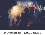 street food is delicious asian... | Shutterstock . vector #1253050318